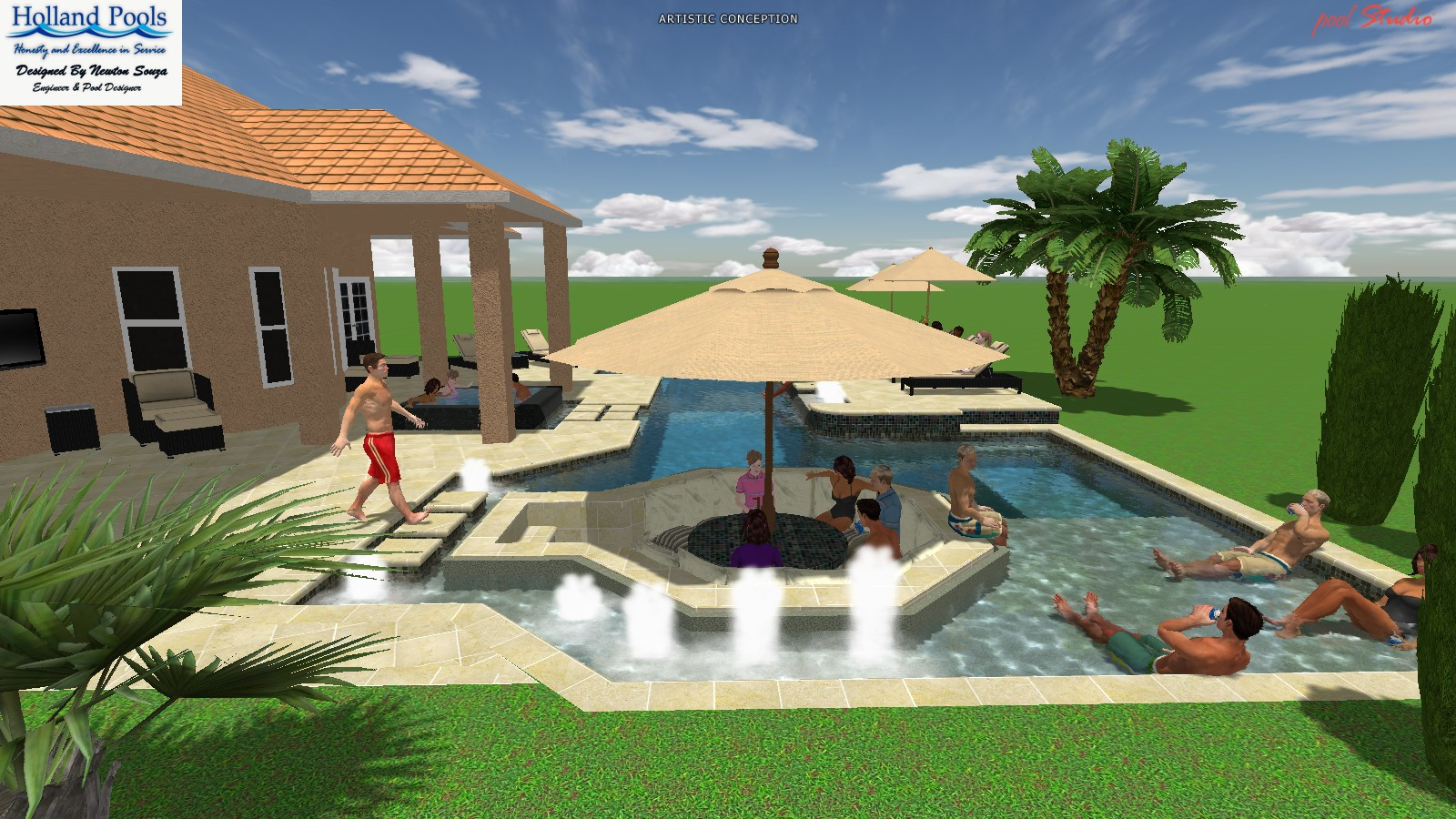 sport and resort pool the latest trend in pool design