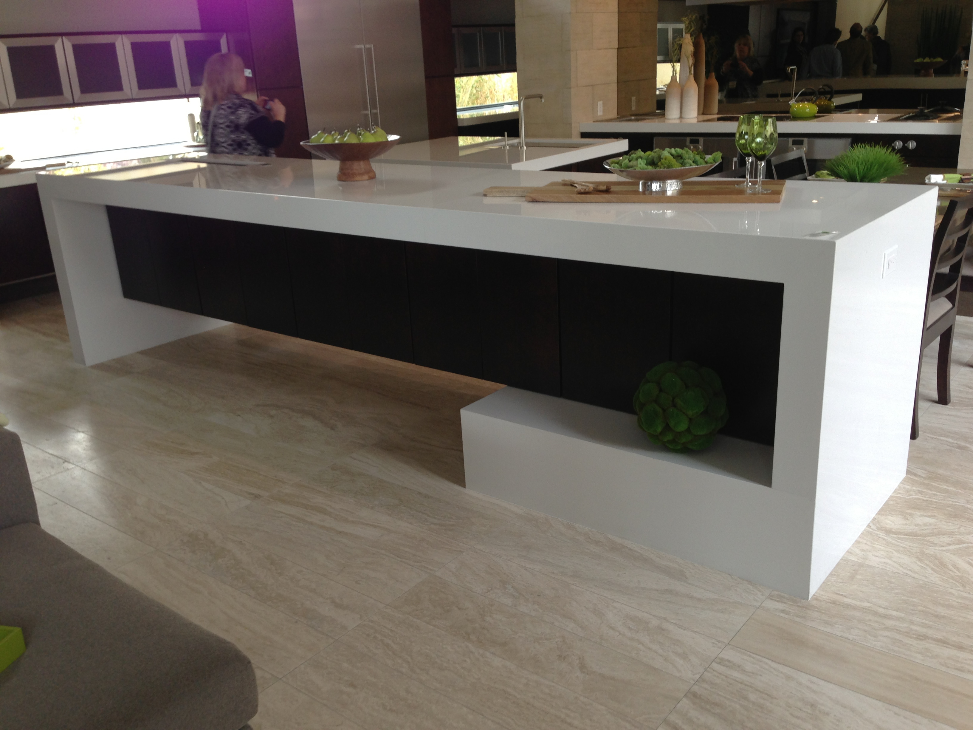 The Kitchen Island Curves And Wraps In 2013